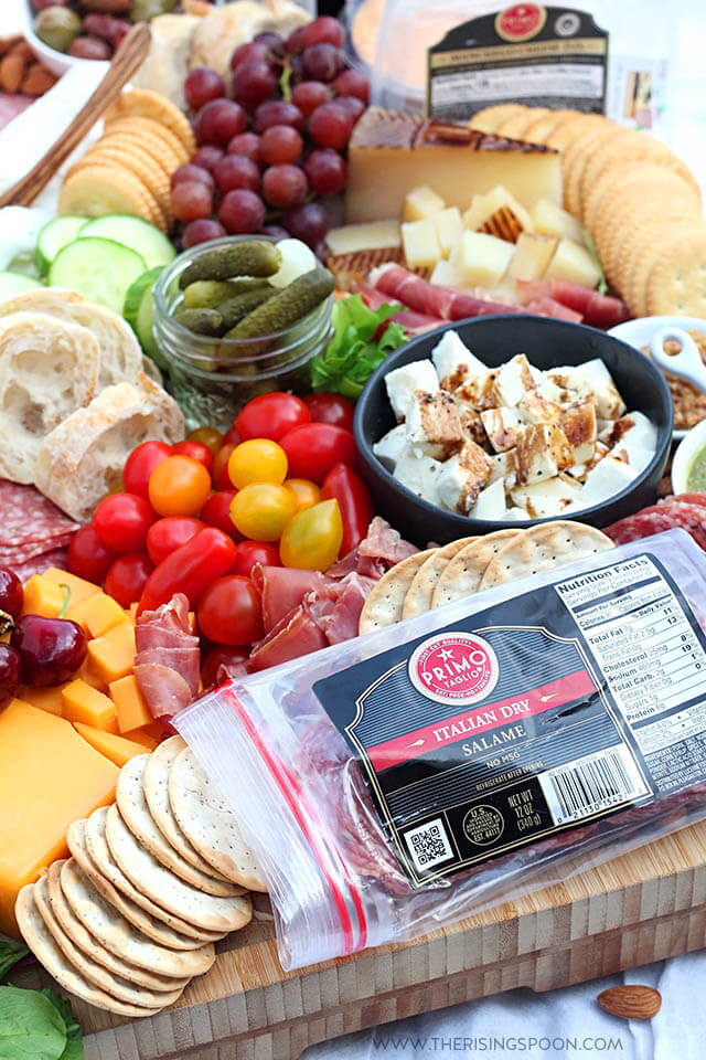 Easy Charcuterie Board (Meat & Cheese Platter) with Primo Taglio