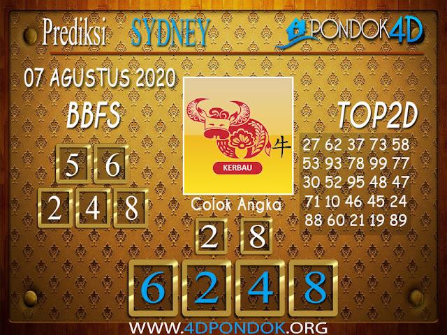 Prediksi Togel SYDNEY PONDOK4D 07 AGUSTUS 2020