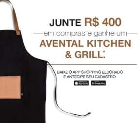 Promoção Eldorado Shopping Dia dos Pais Ganhe Avental Kitchen e Grill