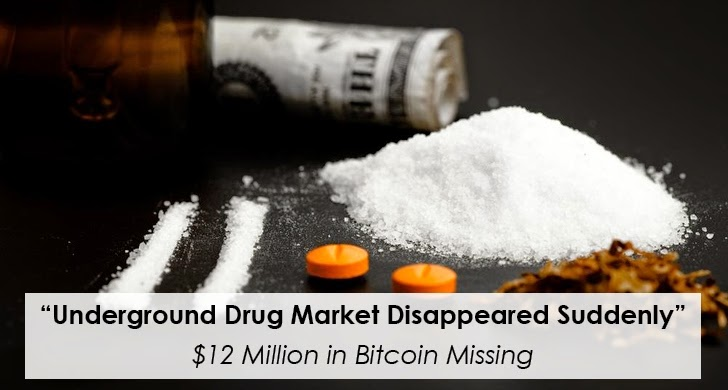 Deep Web Drug Market Disappeared suddenly Overnight, $12 Million in Bitcoin Missing