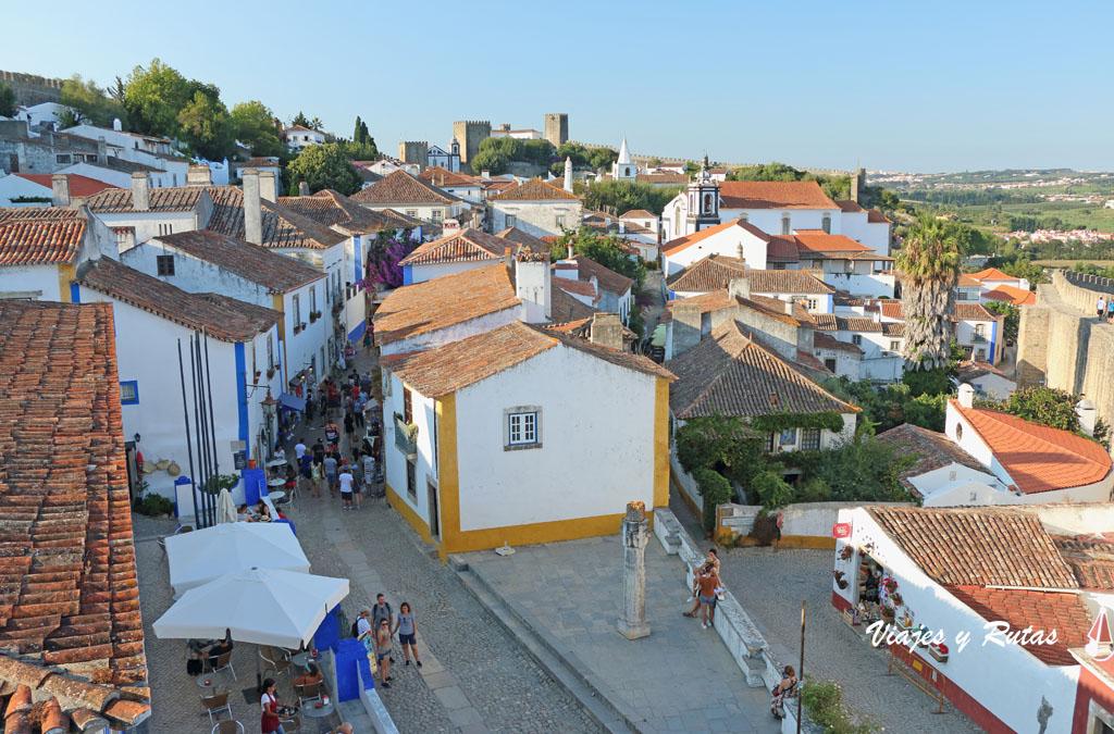 Vistas desde la muralla de Óbidos