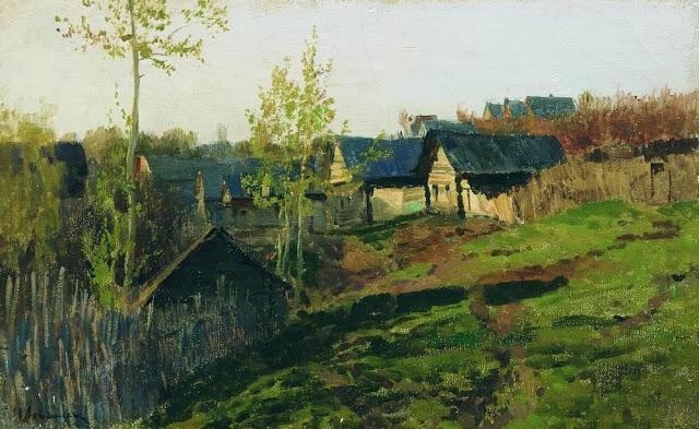Исаак Ильич Левитан - Избы, освещенные солнцем. 1889
