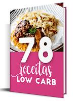 imagem do e-book 78 receitas low carb