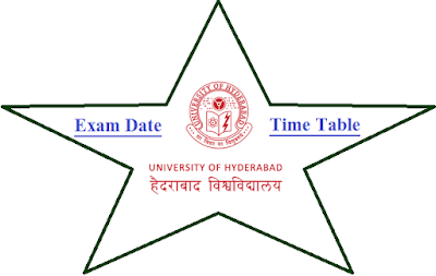 Hyderabad University Time Table May June 2021