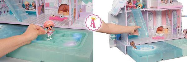 Каток для фигурного катания и горячая ванна L.O.L. Surprise Chalet Dollhouse