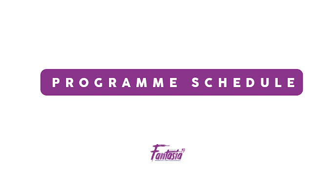 PROGRAMME SCHEDULE : ON STAGE ITEMS