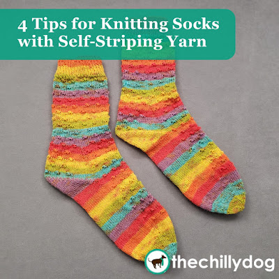 Sundog Socks: 4 tips for knitting socks with self-striping or self-patterning yarn