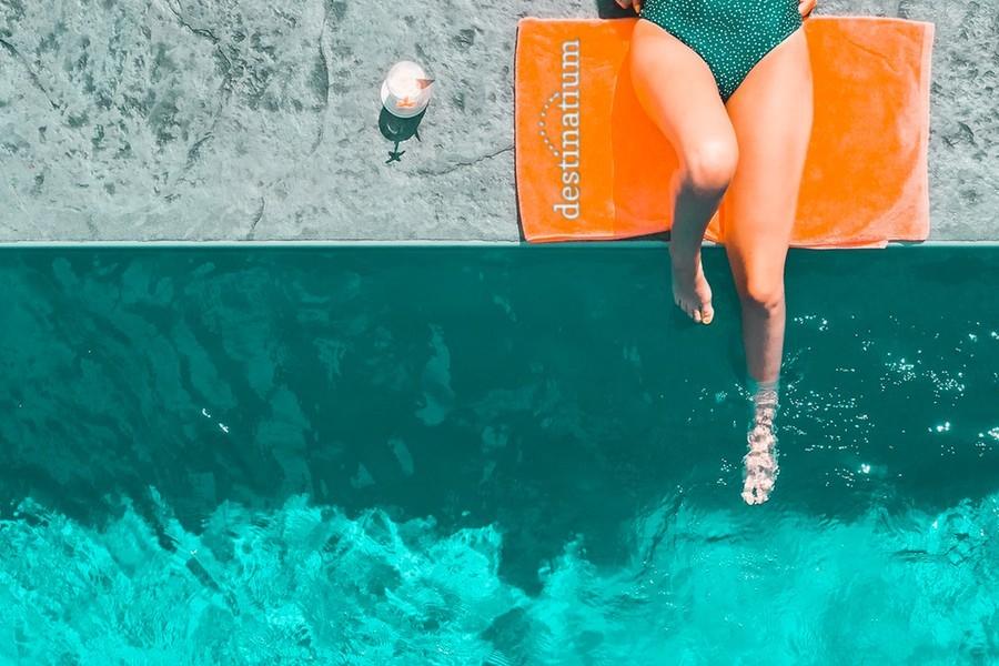Destinatium Towel Mock Brand
