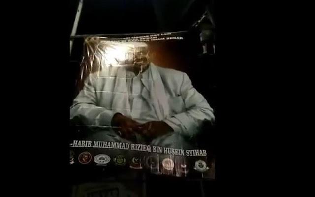 Beredar Video Baliho HRS Kembali Terpajang, Warganet: Simbol Melawan Ketidakadilan