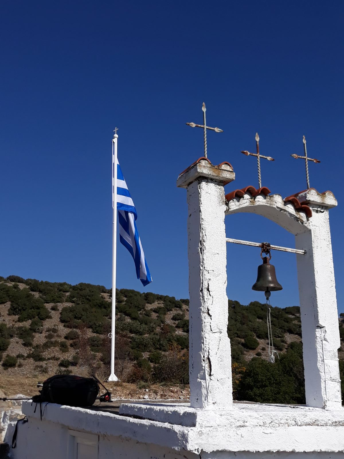 Ελληνική σημαία στη Σταυρούπολη
