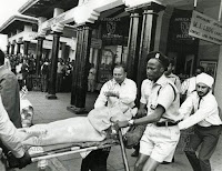 shootiwa%2B1 - Historic PHOTOs show Good Samaritans trying to save TOM MBOYA's life after he was shot by a hired assassin along Moi Avenue.