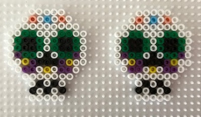Hama bead sugar skull design