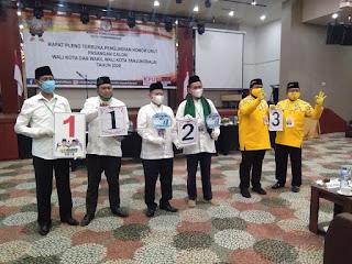 Pilkada Tanjungbalai, Paslon Eka-Gustami Nomor 1, Ismail-Afrizal Nomor 2,  Syahrial-Waris Nomor 3.