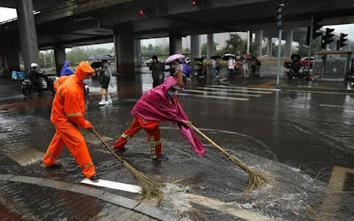 Beijing Is Hit by Storm
