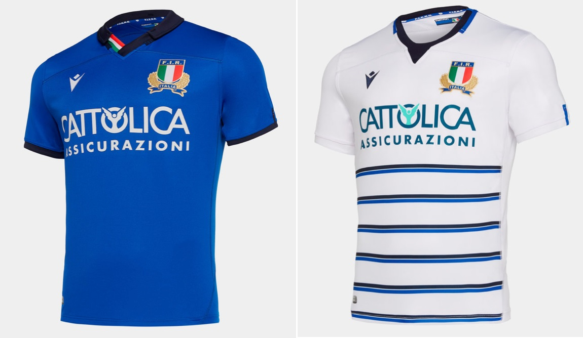Italy Six Nations Home Away kits 2020