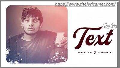Text Song Lyrics | Ray Garg | Latest Punjabi Song 2020