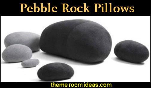 Pebble Rock Pillows stone pillows rock pillows