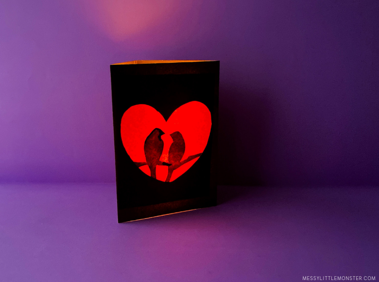 valentines day craft for kids - paper luminary.