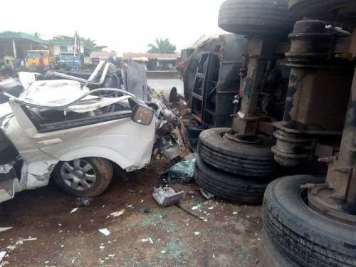 Casualties Hauled In Different Directions, 3 Die As Car Crashes Against Truck In Ondo