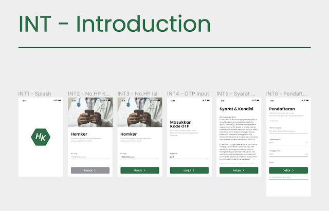 Pemberian Kode Nama pada Frame Figma dalam proyek pembuatan mobile app