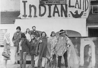 Uno de los grupos originales que ocupó Alcatraz en 1969