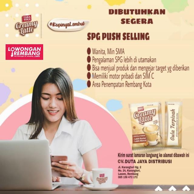 Lowongan Kerja SPG Push Selling Torabika CV Duta Jaya Distribusi Rembang