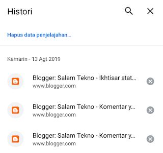 riwayat google chrome