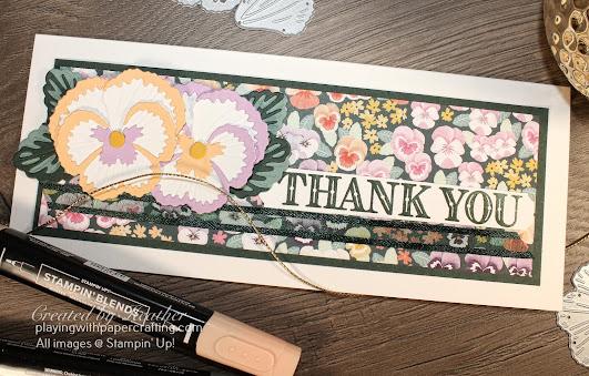 slimline pansy petals suite card 3