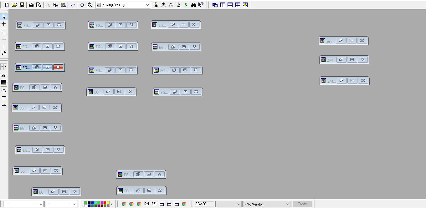 شكل ( 1 ) - شكل شاشة العمل على الميتاستوك في ترتيب معين