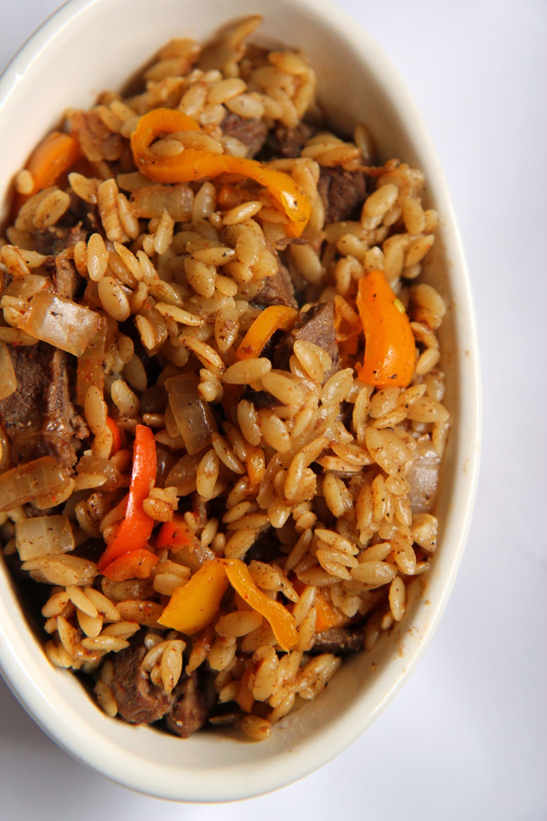 This quick and filling orzo dish is inspired by fajitas!