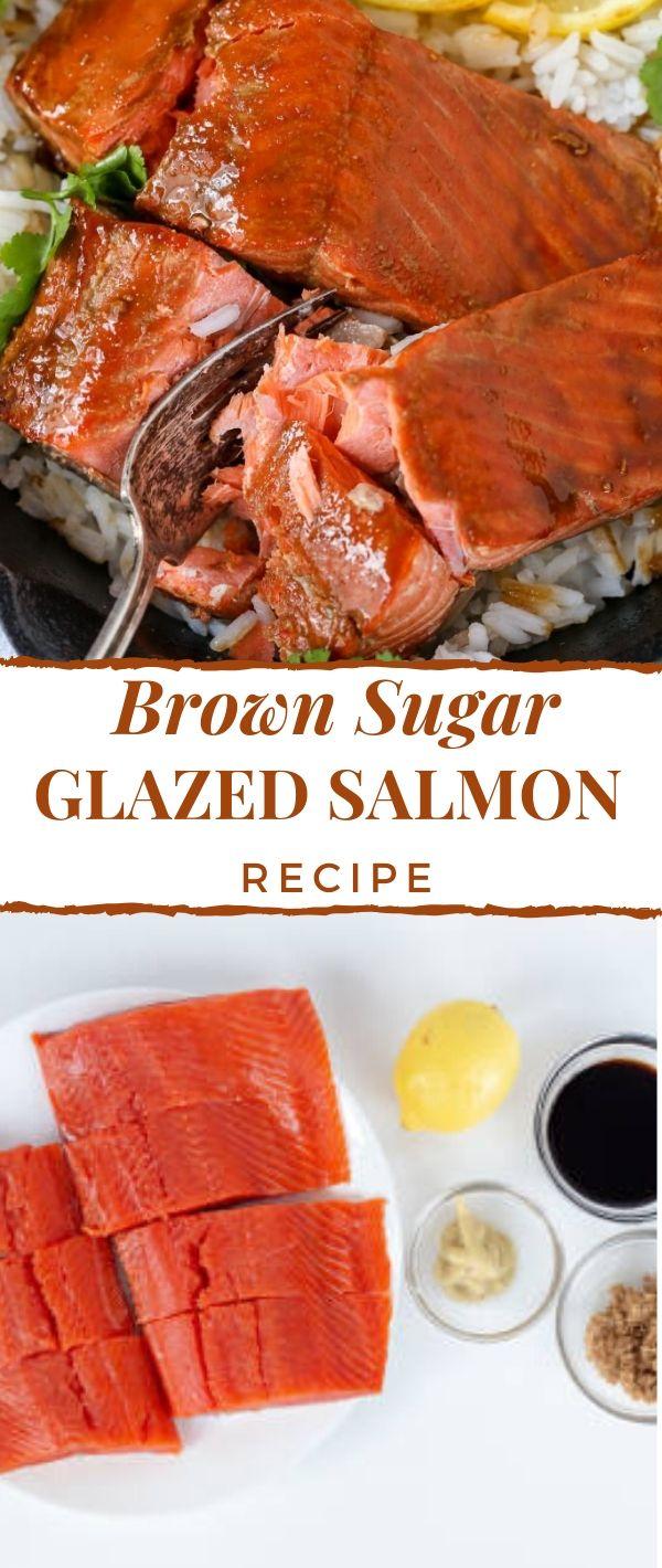 Brown Sugar Glazed Salmon Recipe #Brown #Sugar #Glazed #Salmon #Recipe Healthy Recipes Easy, Healthy Recipes Dinner, Healthy Recipes Best, Healthy Recipes On A Budget, Healthy Recipes Clean, Healthy Recipes Breakfast,