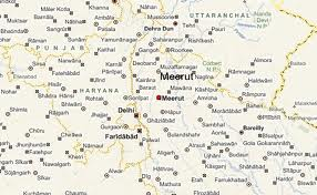 Meerut India Map.India In Maps Meerut City Map