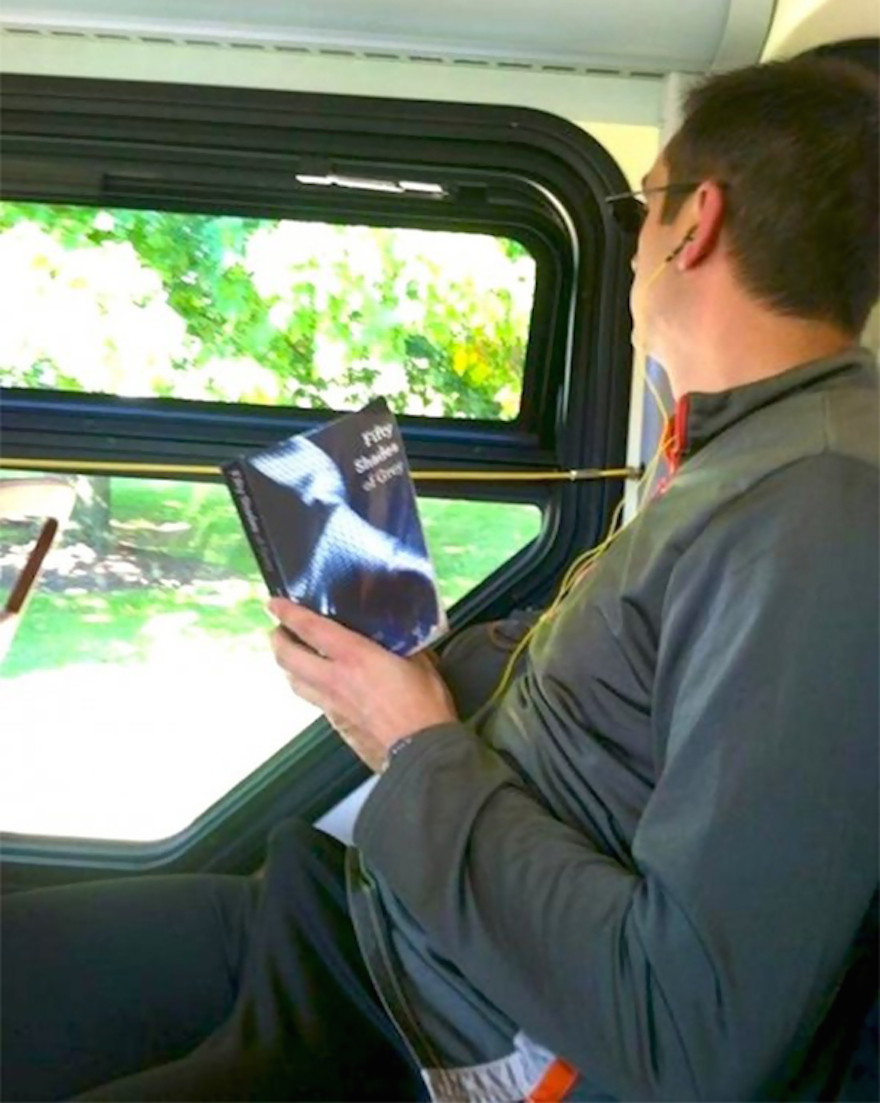 17 Hilarious Pictures Of People Reading All The Wrong Books In Public - And Liking It Way Too Much…