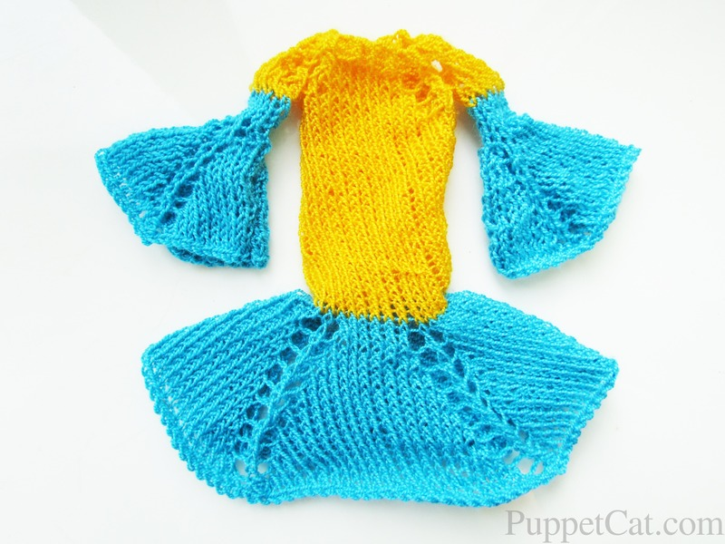 Вяжем платье для куклы Барби