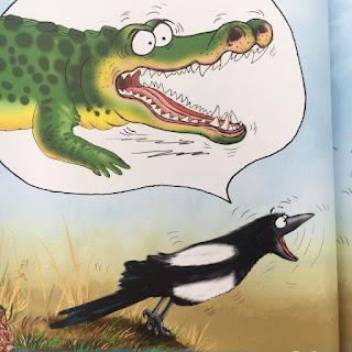 """""""Die kleine Elster Elsa - """"Aber ich bin doch ein Krokodil!"""" von Hanna Trunk, illustriert von Marion Schickert, erschienen im Verlag edition trunk"""
