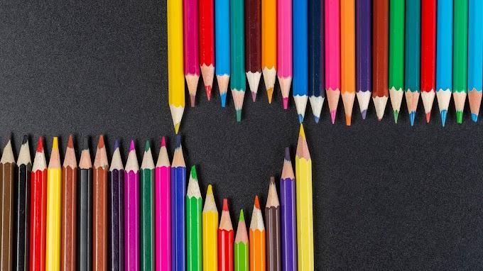 Lápis de Cor Colorido, Coração, Arte
