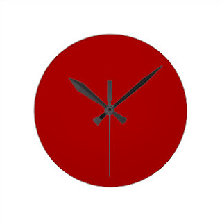 Red Christian home decor wall clock
