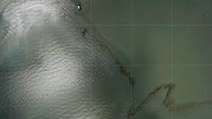 Oil Spill in Gulf of Mexico After Hurricane Ida