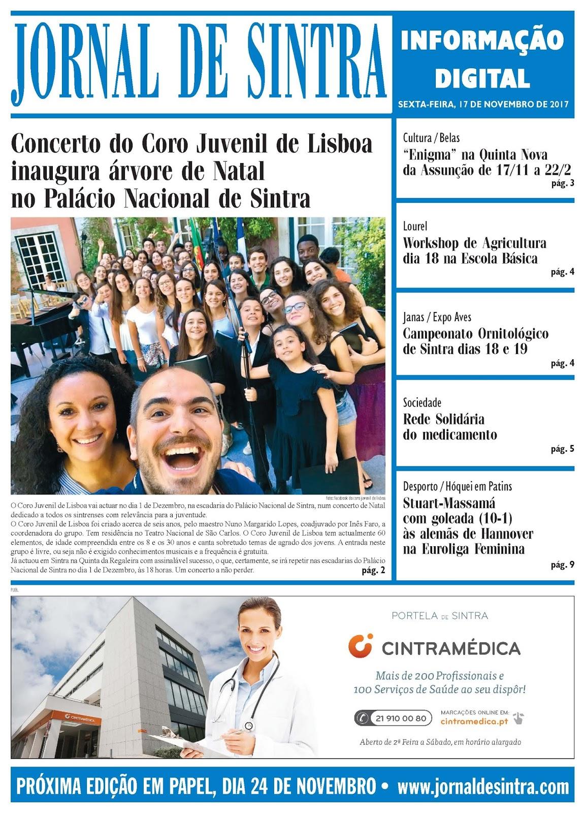 Capa da edição de 17-11-2017