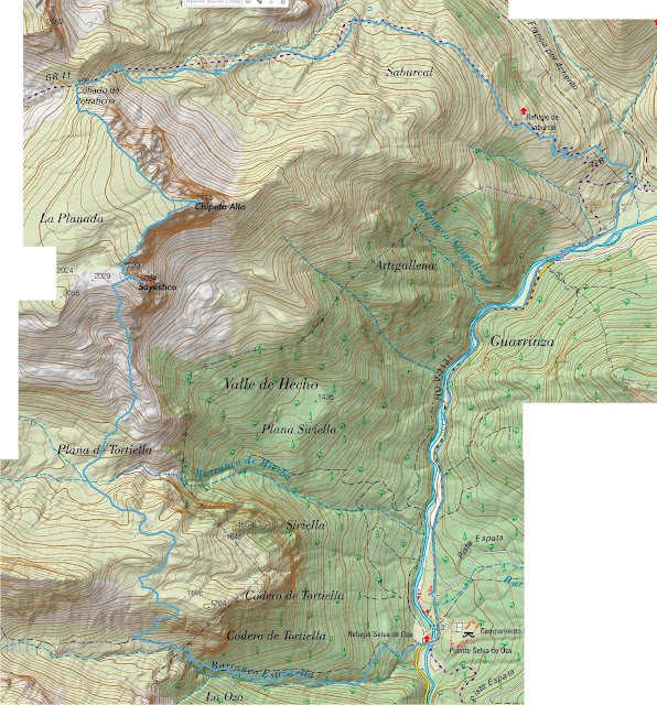 Mapa de la ruta al Chipeta Alto y Pico Sayéstico