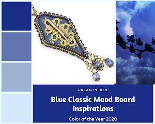 Nib necklace - Classic Blue