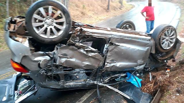 Veículo do gabinete da prefeitura de Manoel Ribas se envolve em acidente próximo a Reserva