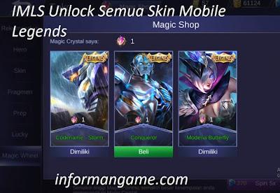 cara unlock skin ML 2020