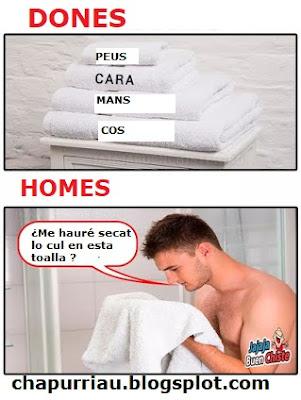 ¿Per qué se renten les toalles si se supose que eixím llimpios de la ducha?