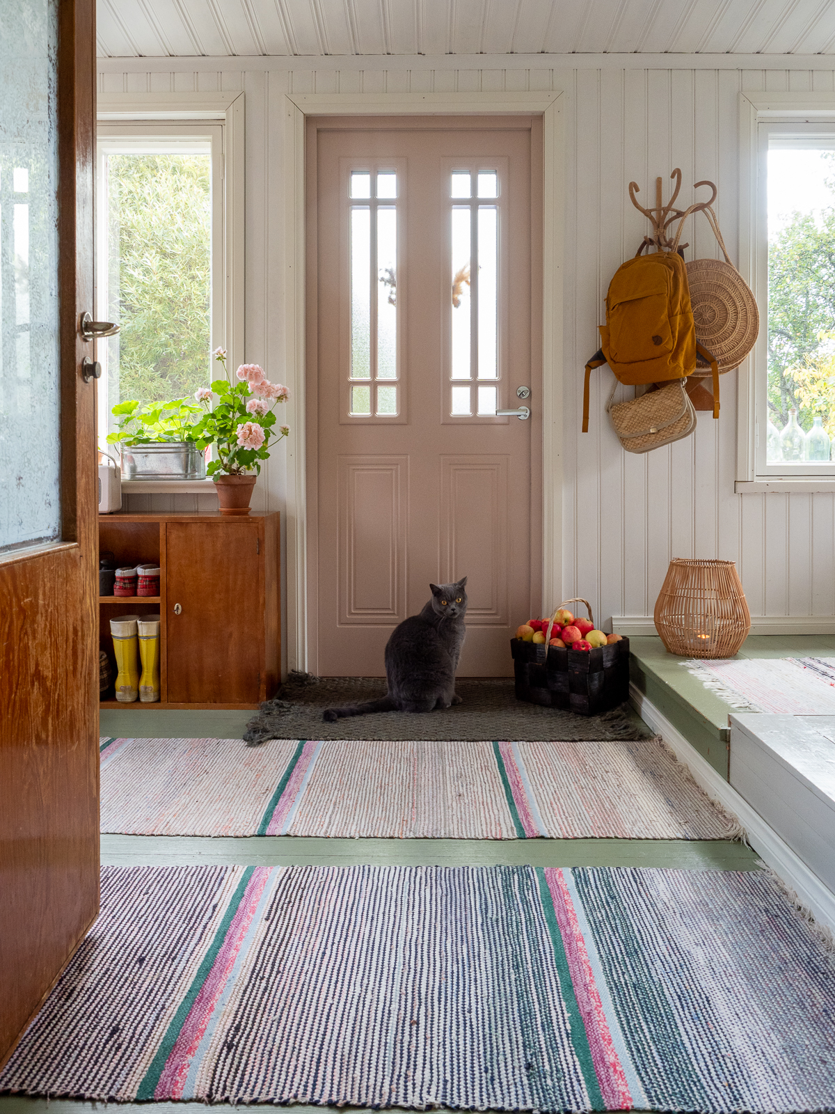 värillinen ulko-ovi