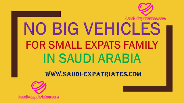 No Big Vehicle For Small Expatriates Family