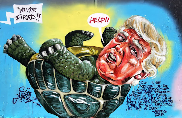 Newtown Street Art - 'Donald Trump' by Scott Marsh