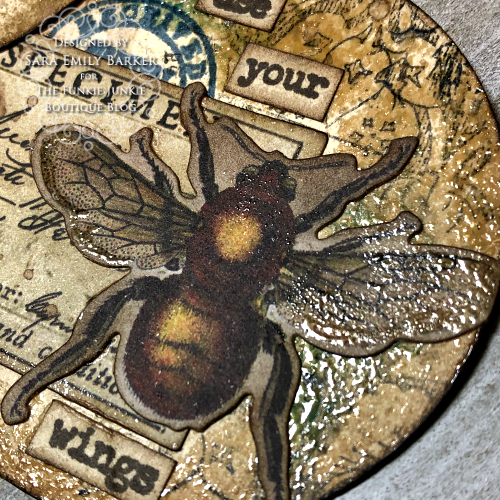 Sara Emily Barker https://sarascloset1.blogspot.com/2020/03/artist-trading-coins-with-tim-holtz.html ATC's Field Notes Distress Embossing Glazes 5
