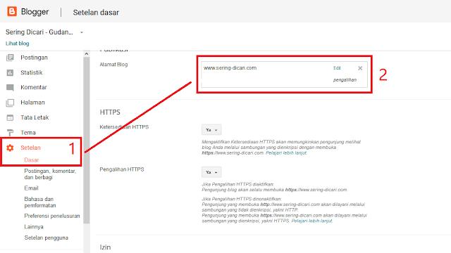 Cara Custom Domain Blogspot Bisa Diakses Tanpa WWW - Sering Dicari
