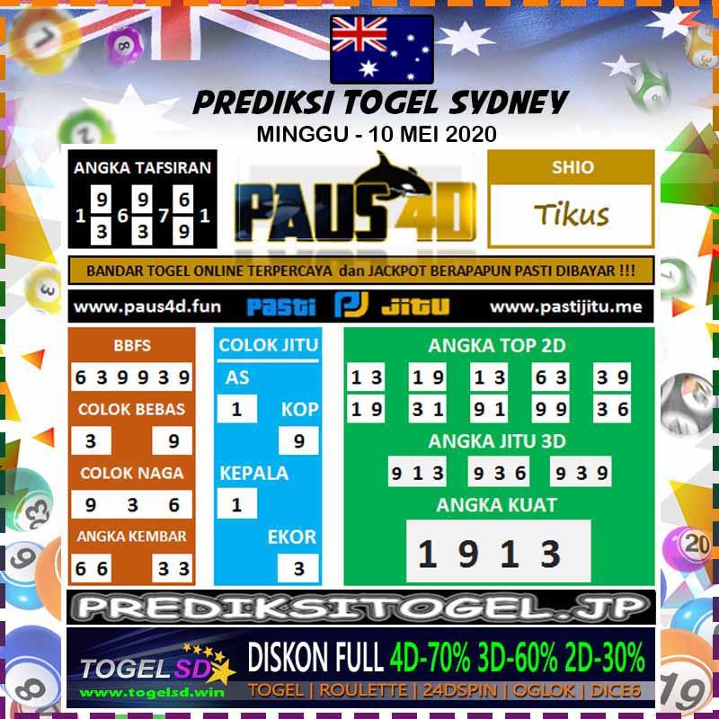 Prediksi Togel Sidney Minggu 10 Mei 2020 - Prediksi Paus4D